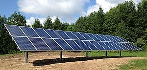Ground mount solar energy system