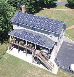Roof mount residential solar system