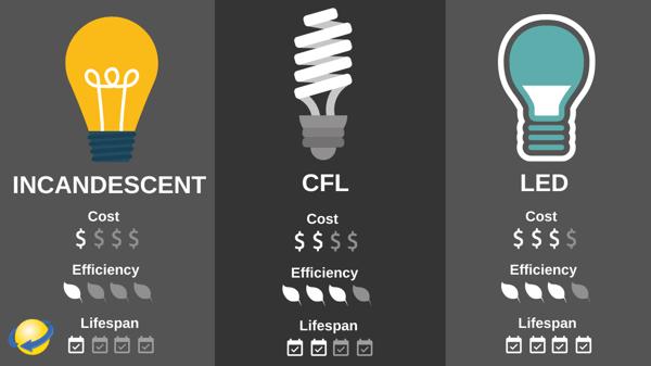 Energy Comparison of Light Bulbs