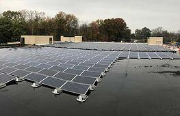 Ballast Mounted Solar Energy System on a Flat Roof