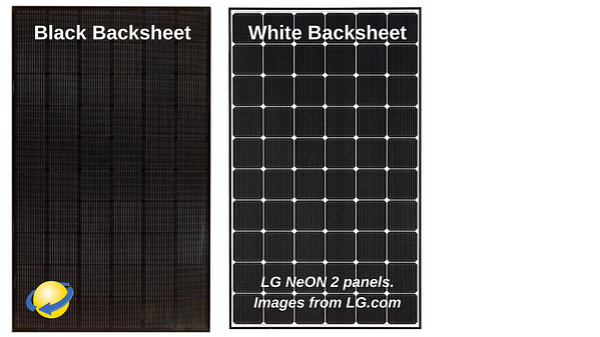 black backsheet solar panels versus White Backsheet Solar Panels