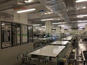 Solar panel manufacturing facility