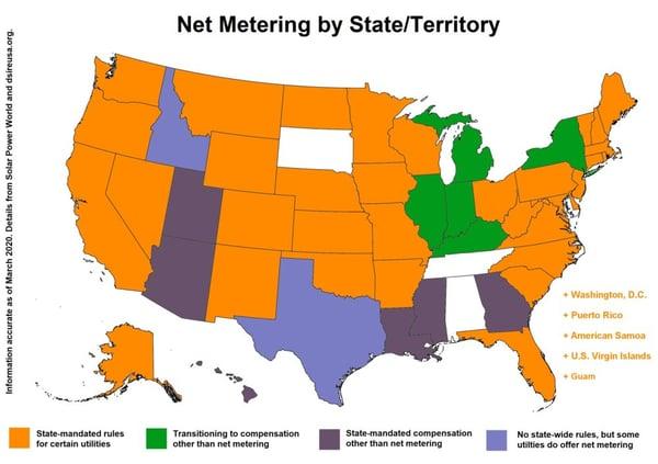 State Net Metering Map