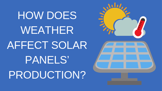 how does weather affect solar panel production