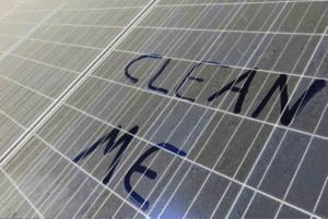 dirt solar panel