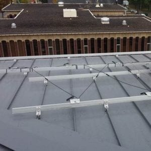 Solar Racking on a Standing Seam Metal Roof