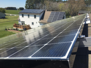Standard Rail Mounted Solar With Panels Installed