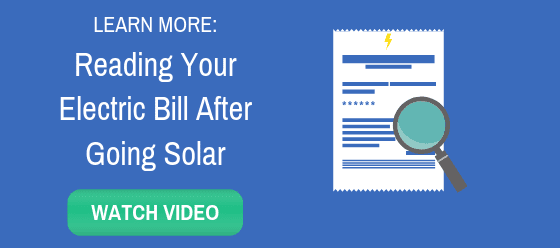 Reading Your Electric Bill After Going Solar