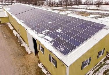 woodvale farms solar array aerial