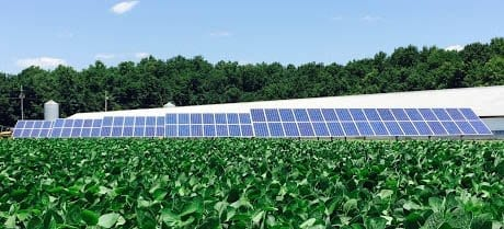 agricultural ground mount solar system