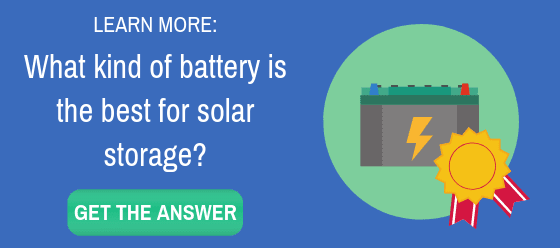 what battery is best for solar storage