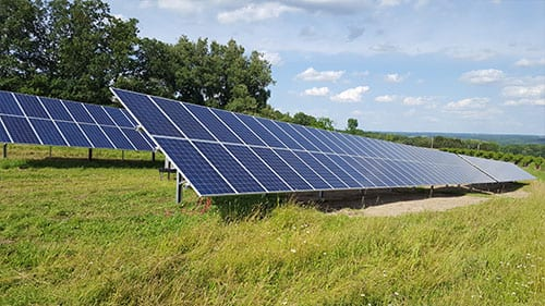 ground mount solar panels vineyard in branchport ny