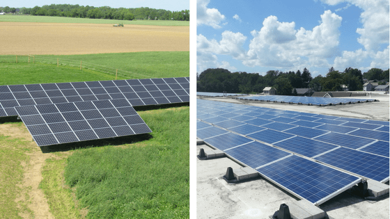 A comparison of ground mounted solar panels and roof mounted solar panels