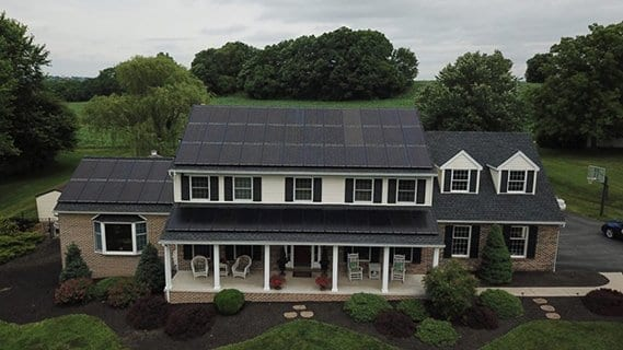 solar panels that look nice on house