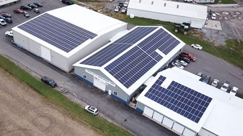 solar panels roof phelps ny business
