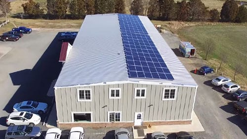 solar panels roof virginia business