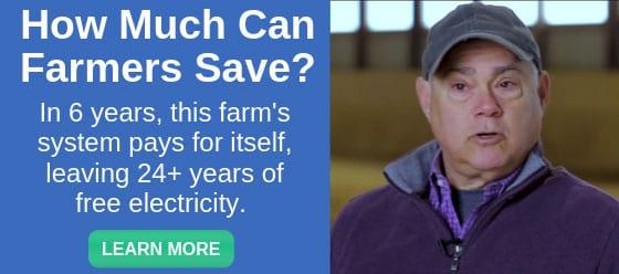 can solar save farms money