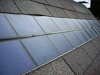 solar shingles on asphalt roof