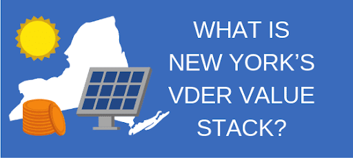 What Is New York's VDER Value Stack?