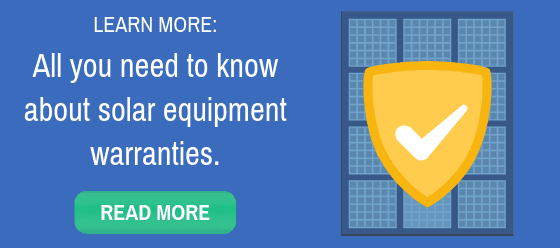 Learn about solar panel warranties