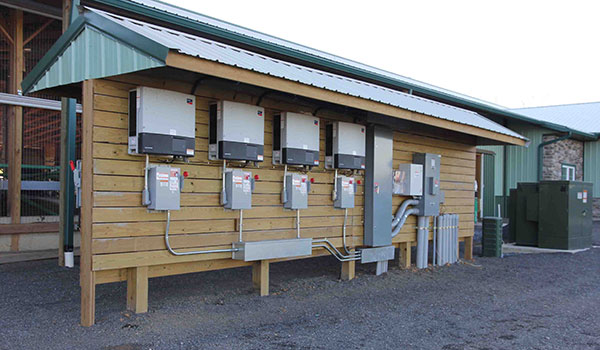 SMA inverters at a farm