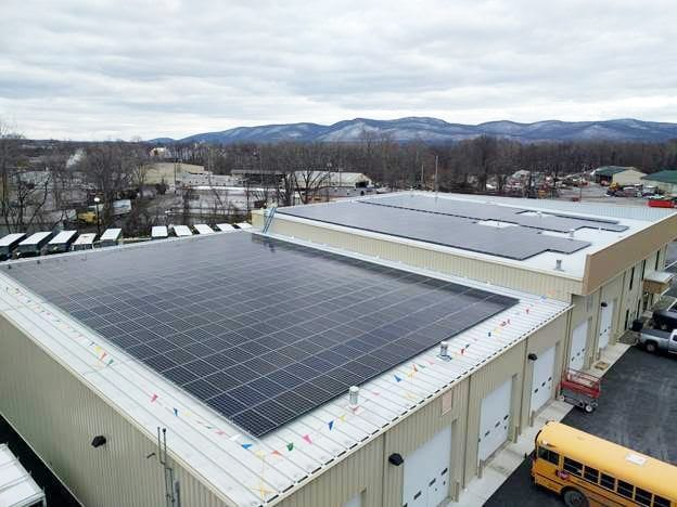 solar installation on roof in New Windsor, NY