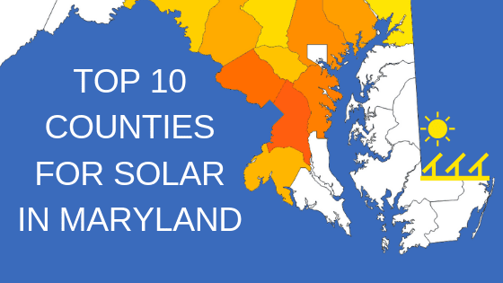 top 10 counties for solar in maryland