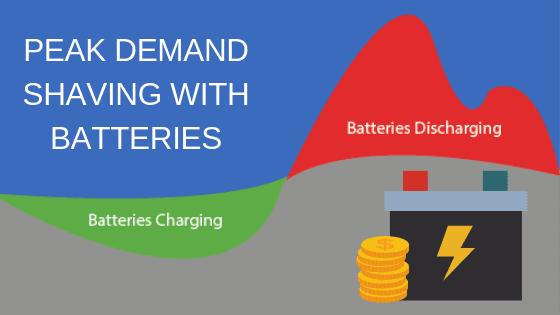 peak demand shaving with batteries
