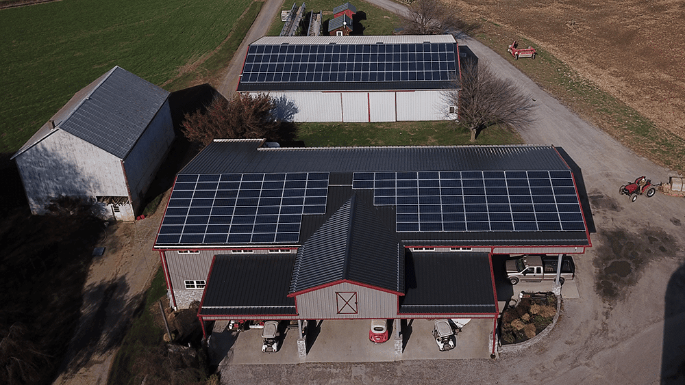 73 kW Roof Mounted Solar System at Cherry Crest Farms.