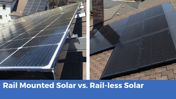rail mounted solar vs rail-less solar