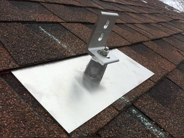 asphalt shingle solar roof mount