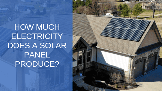 electricity produced by a solar panel