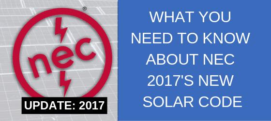 nec 2017 solar