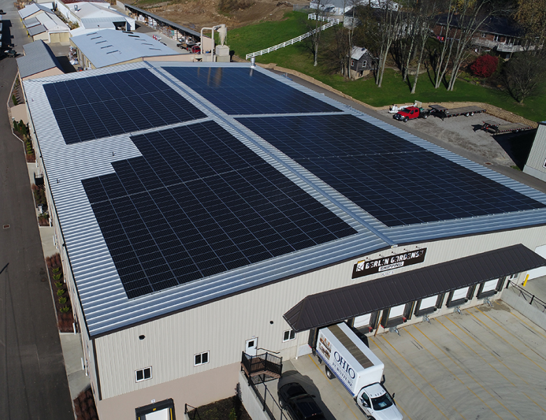 Solar energy installation at business in Ohio