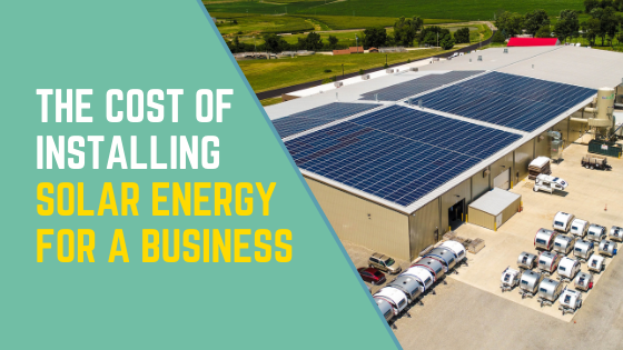 Cost of installing solar panels for a business