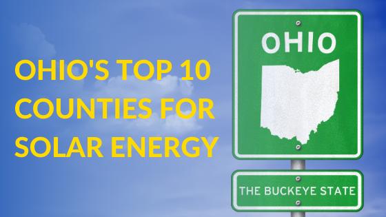 Top solar energy counties in Ohio
