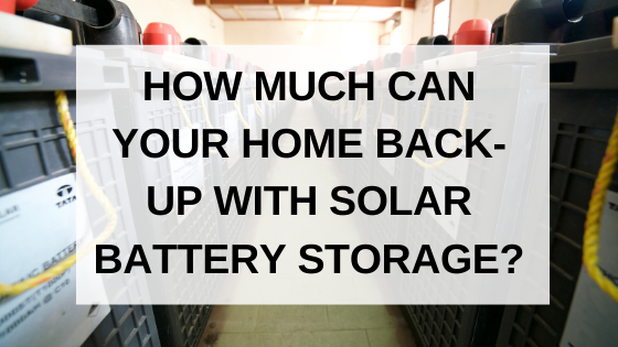 how much can you back up with solar battery